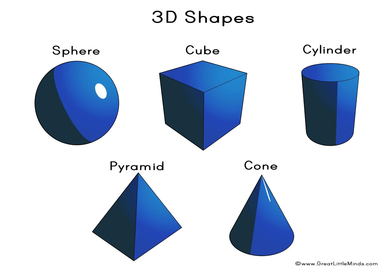 3d Shape Names 3d Puzzle Image