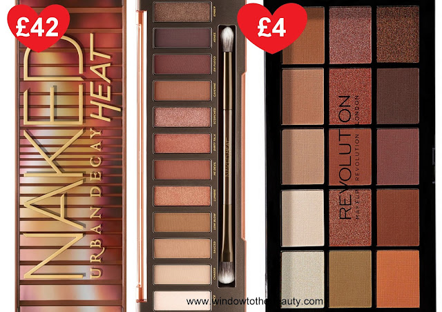 Urban Decay Naked Heat drugstore cheap dupe