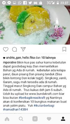 promosi karya masakan dengan keju di bulan ramadhan