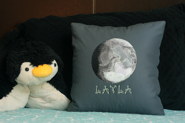 Full Moon Pillow | Glow In The Dark Pillow | Glow In The Dark Moon | Belinda Lee Designs | Belinda Briggs