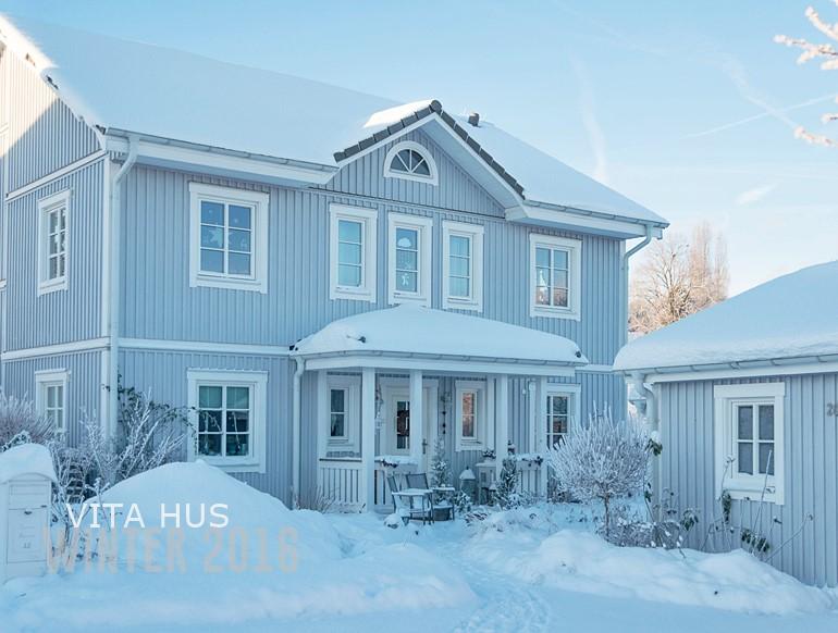 Schwedenhaus grau  Winter im Schwedenhaus - * VitaHus *