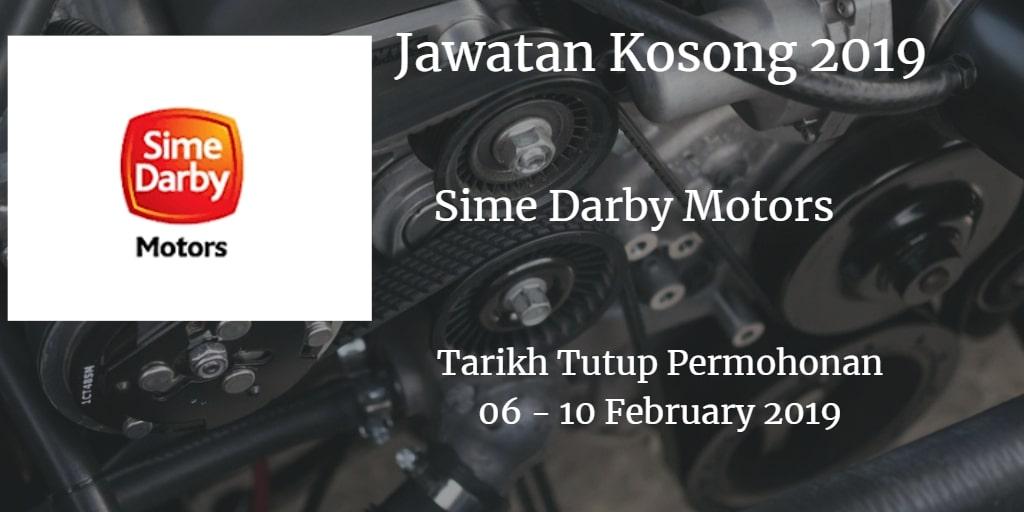 Jawatan Kosong Sime Darby Motors 06 - 10 February 2019