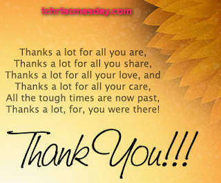 Thank you Christmas messages for friends