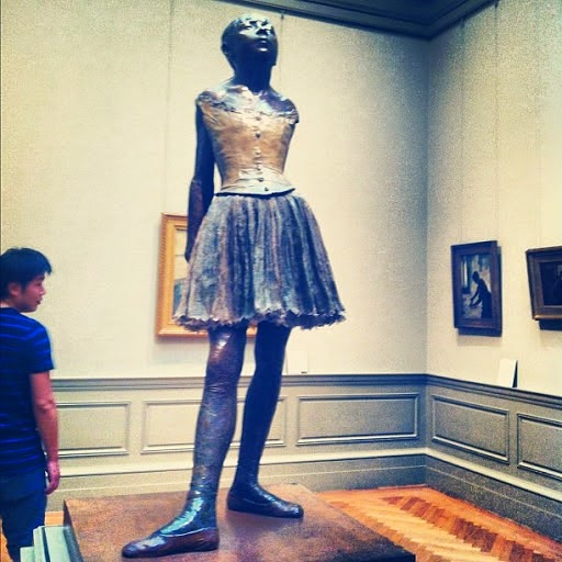 Ballerina sculpture by Edgar Degas, Metropolitan Museum of Art, NYC