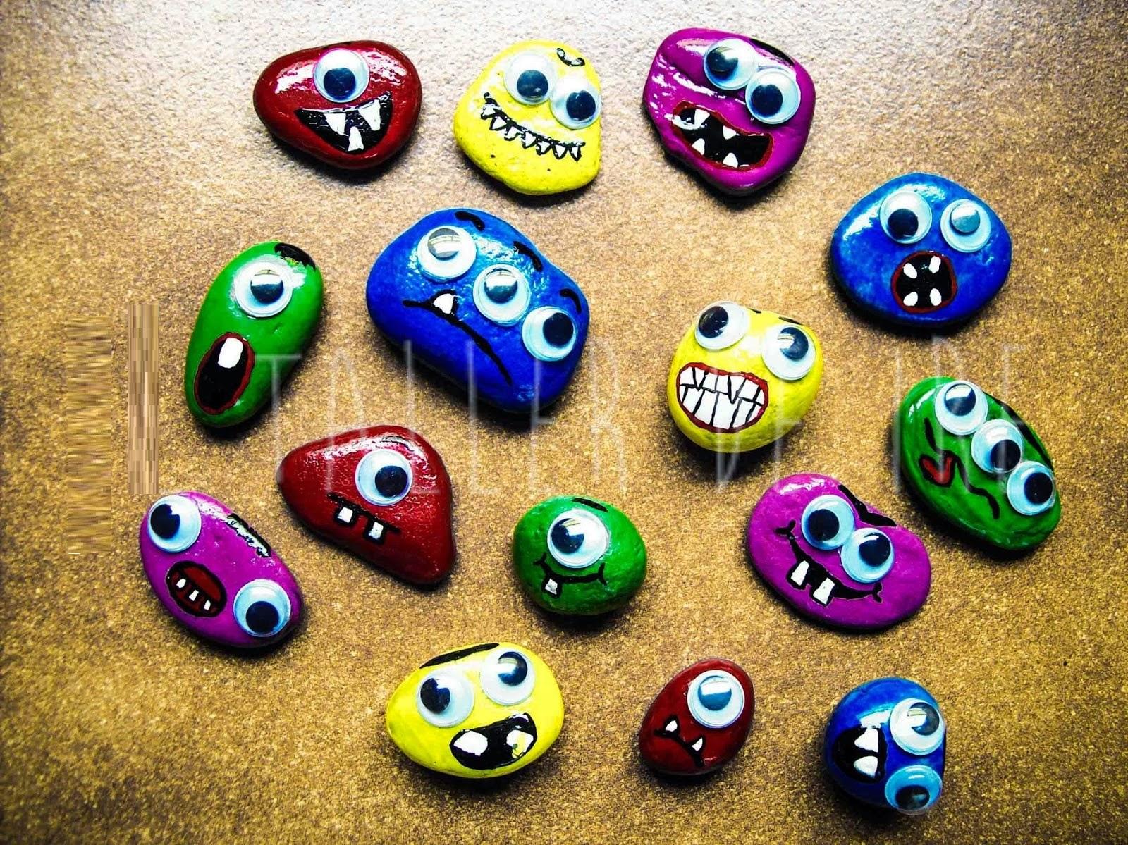 Ideas para pintar piedras de halloween mimundomanual for Piedras pintadas a mano paso a paso