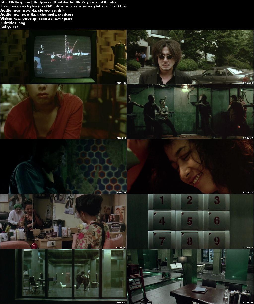 Oldboy 2003 BluRay 400MB Hindi Dubbed Dual Audio 480p Download