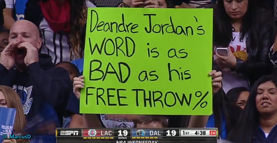 Sport Gifs Videos Dallas Mavericks Fan With A Sign Saying