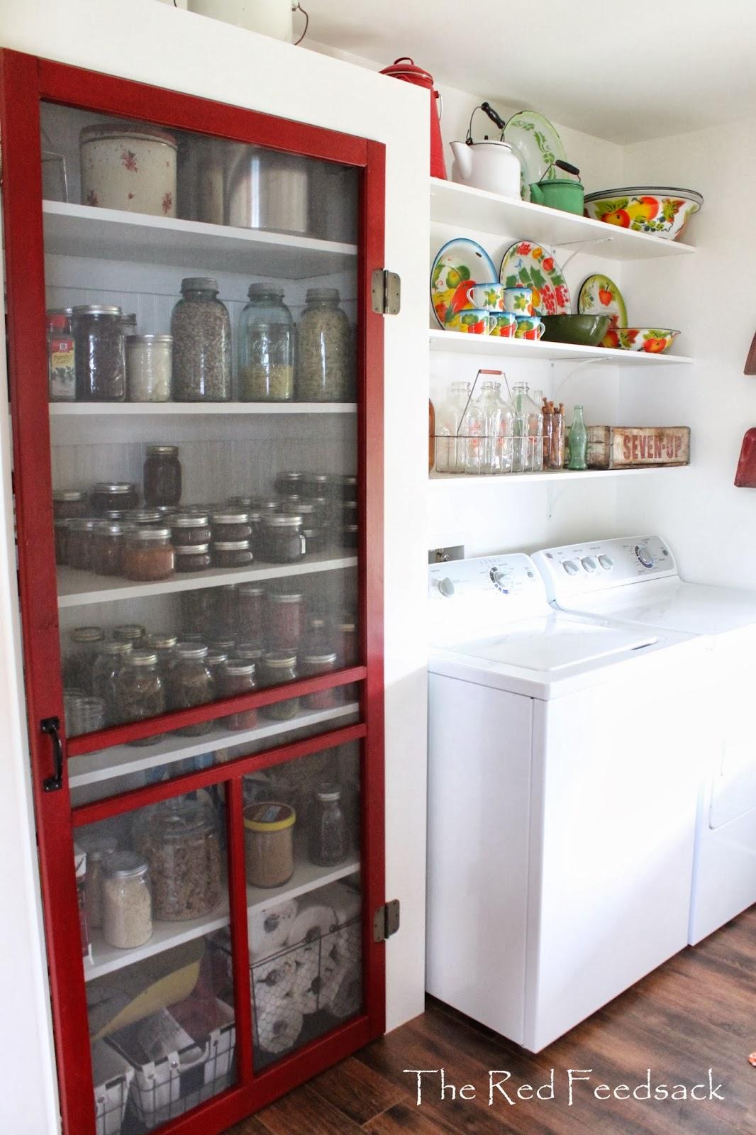 The Red Feedsack My Laundry Room Is Company Ready