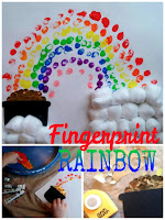 fingerprint rainbow kids craft