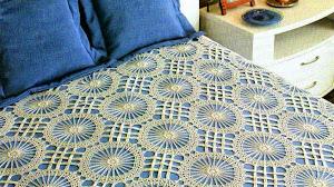 3 Finos cubrecamas al crochet - con patrones