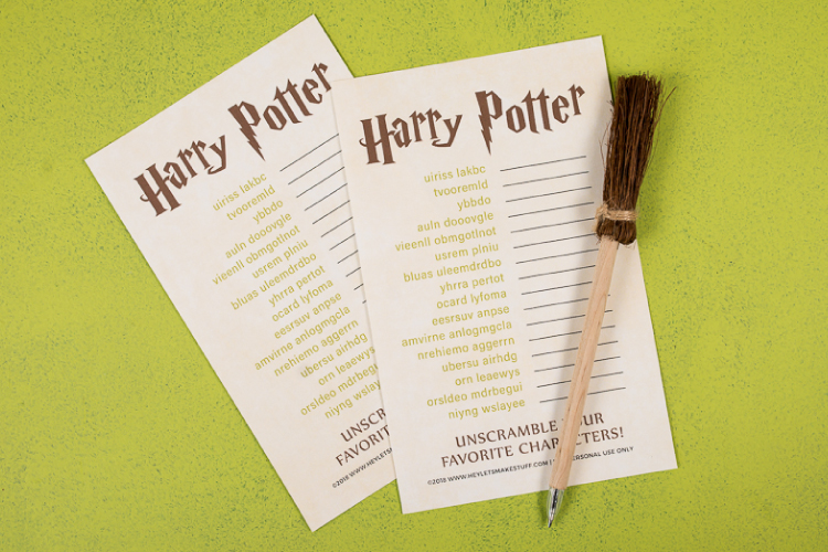 Musings Of An Average Mom Harry Potter Printables