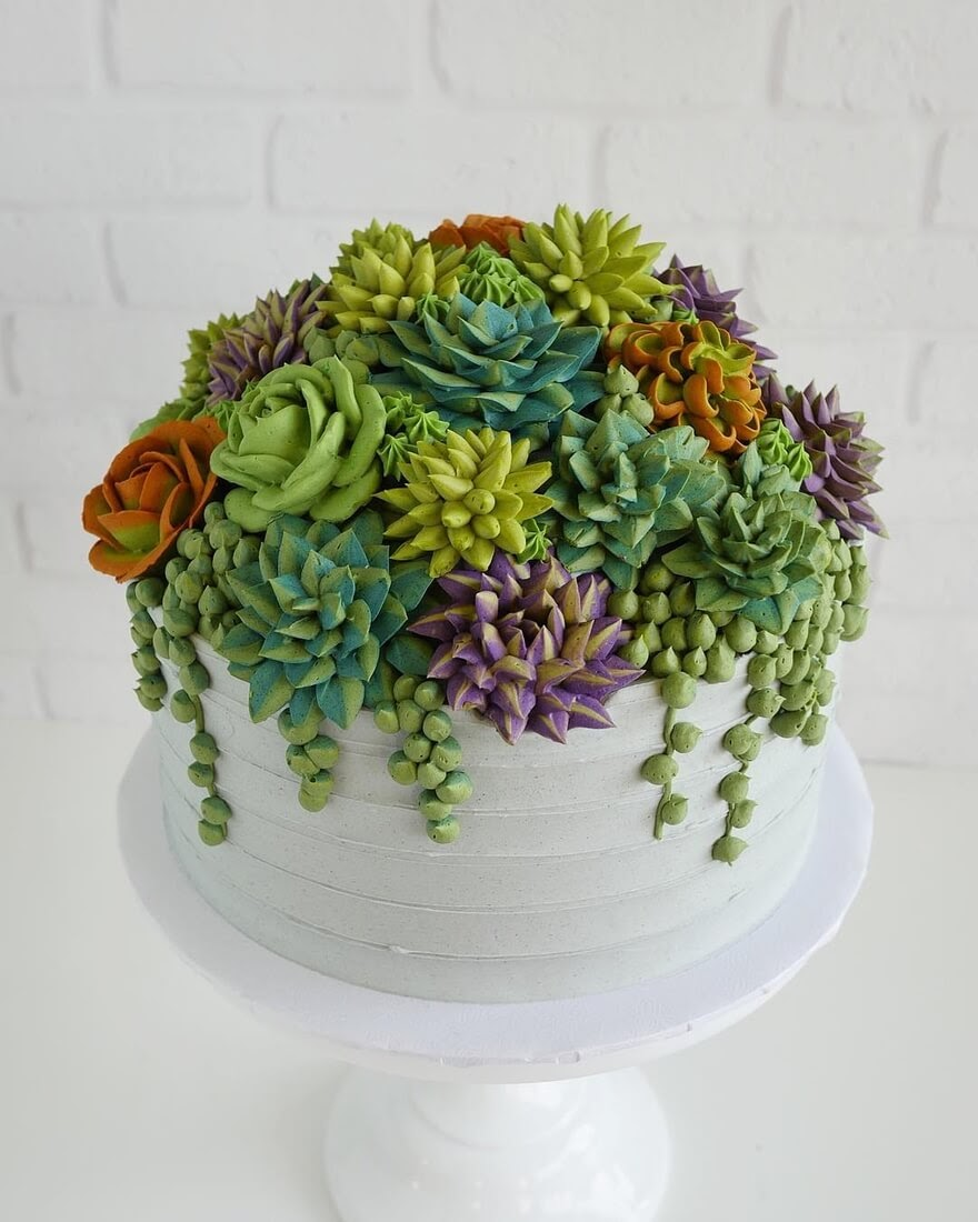 02-Succulent-Plants-Leslie-Vigil-Themed-Decorated-Cakes-www-designstack-co