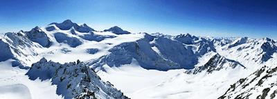 Pemandangan Alam Pegunungan Salju Gletser