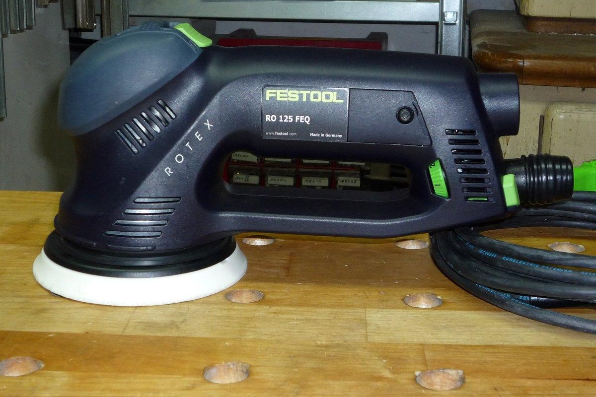 Super Michas Holzblog: Werkzeugvorstellung - Festool Rotex RO 125 FEQ XR-19