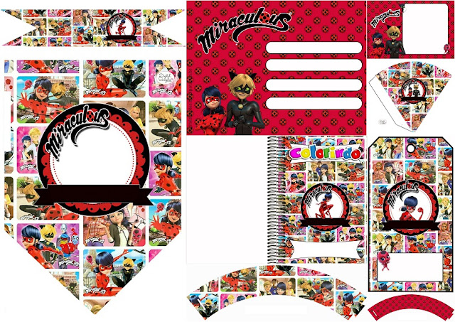 e31a4931cdcc Nice Miraculous Ladybug Free Party Printables and Invitations.
