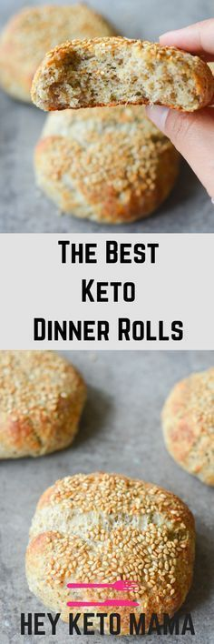 The Best Keto Dinner Rolls #breakfast #keto #dinner #rolls