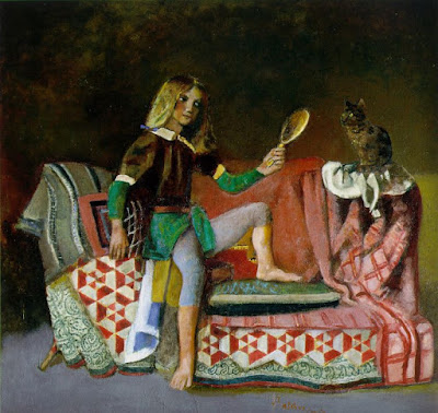 pisica-in-oglinda-balthus-1990
