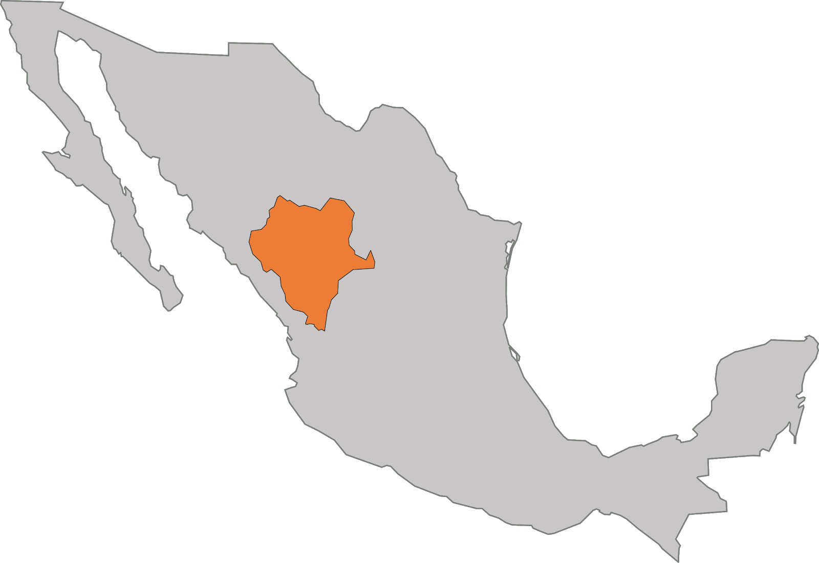 Estado de Durango en la Republica Mexicana
