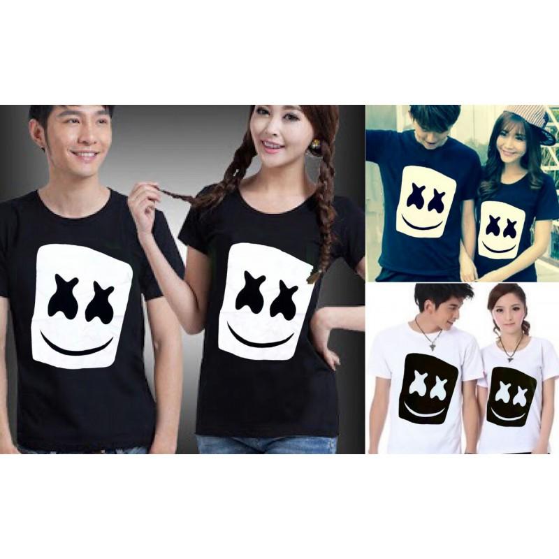 Jual Online Marshmello Head Couple Murah Jakarta Bahan Combed Terbaru