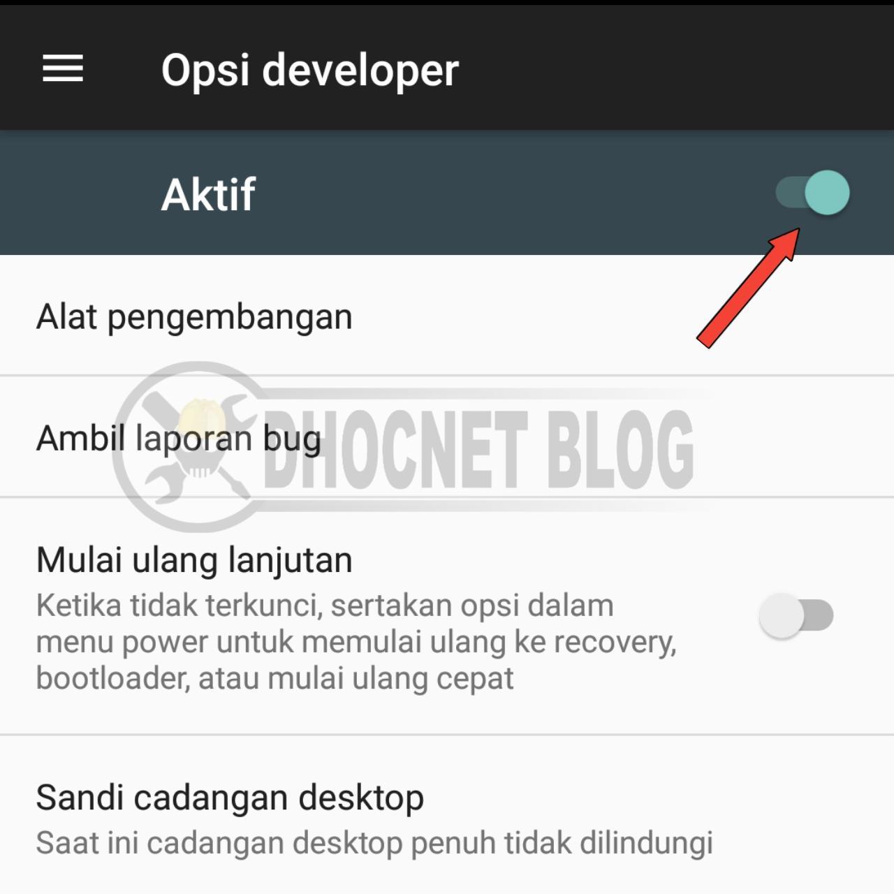 panduan mengaktifkan opsi developer pada android - blog.dhocnet.work