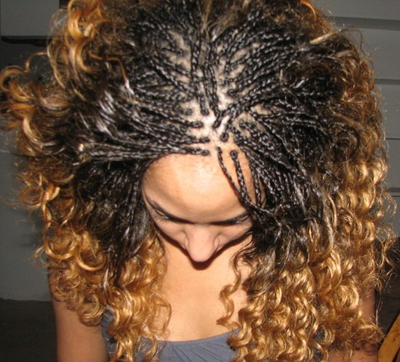 Beautiful Braids Freestyle With Curly Hair