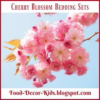 Cherry Blossom Bedding Sets, food-decor-kids.blogspot.com