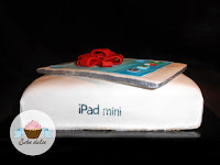 Tarta fondant iPad mini lateral