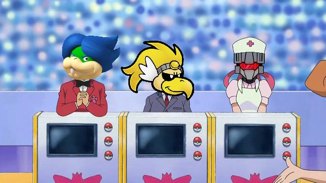 KoopaTV Rawk Ludwig Vortexica Sinnoh Pokémon Super Contest judges