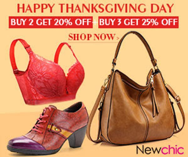 Pre Thanksgiving Day Sales - 20% OFF Buy 2, 25% OFF Buy 3