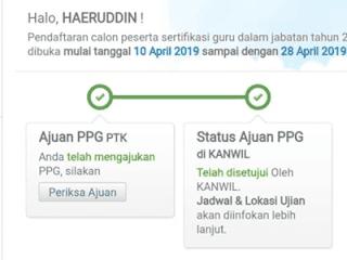 Cara Cek Hasil Verifikasi Berkas Ajuan PPG 2019 Pada Akun Simpatika