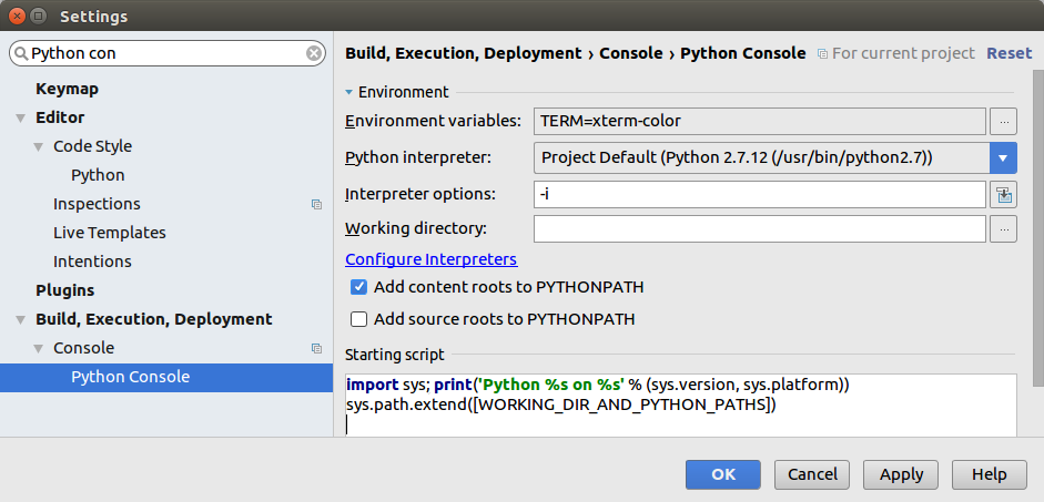 TERM Environment Variable Not Set On Python