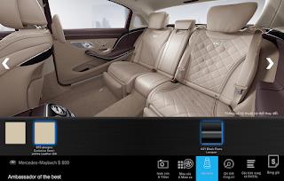 Nội thất Mercedes Maybach S560 4MATIC 2018 màu Vàng Silk 975