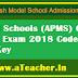 APMS VI Class Entrance Examination 2018-2019 Code -A,B,C,D Answer Keys Download