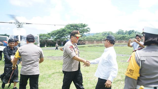 Pantau Pemilu, Kapolda Bali Menggunakan Helikopter