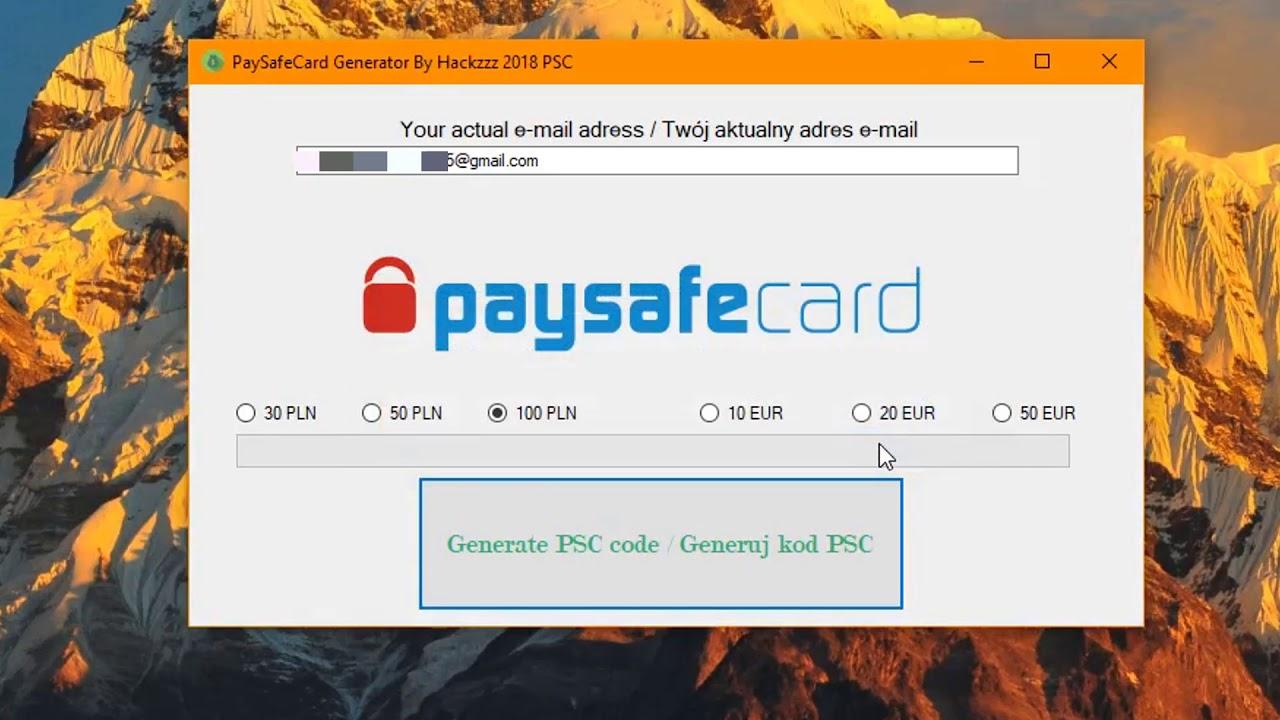 Paysafecard code generator fake PayPal Money
