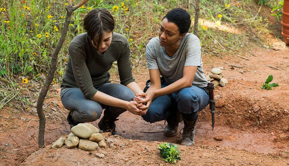 Maggie y Sasha recuerdan a Abraham y Glenn en Go Getters