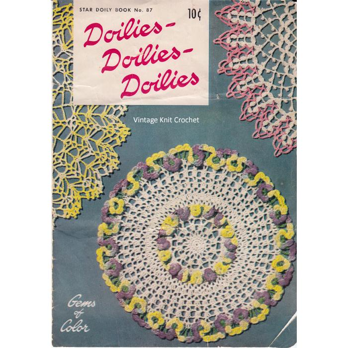 Vintage Knit Crochet Shop Talk Doilies Crochet Pattern Star Book 87