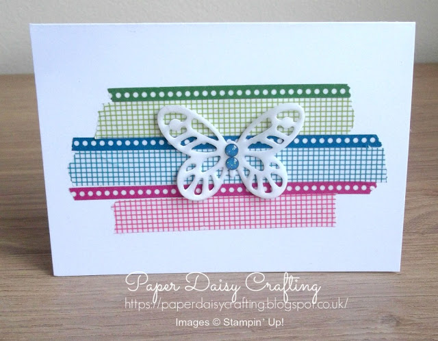 Bold butterflies and washi tape from Stampin' Up!