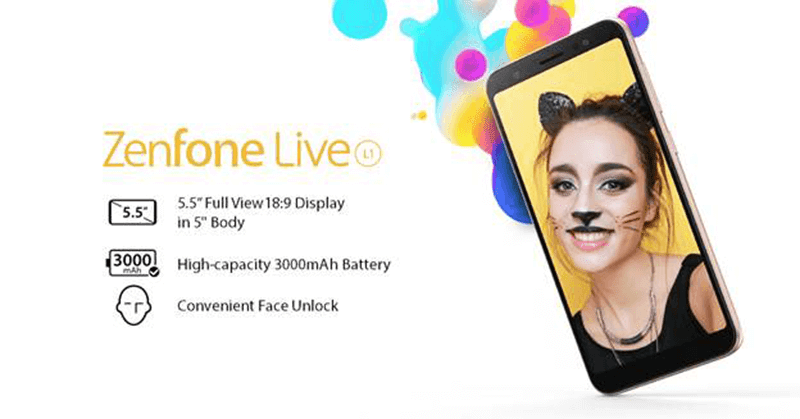 ASUS ZenFone Live L1 is coming to the Philippines this July!