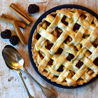 Blackberry & Pear Lattice Crust Pie