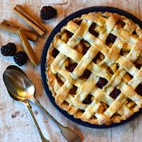 Blackberry & Pear Lattice Crust Pie