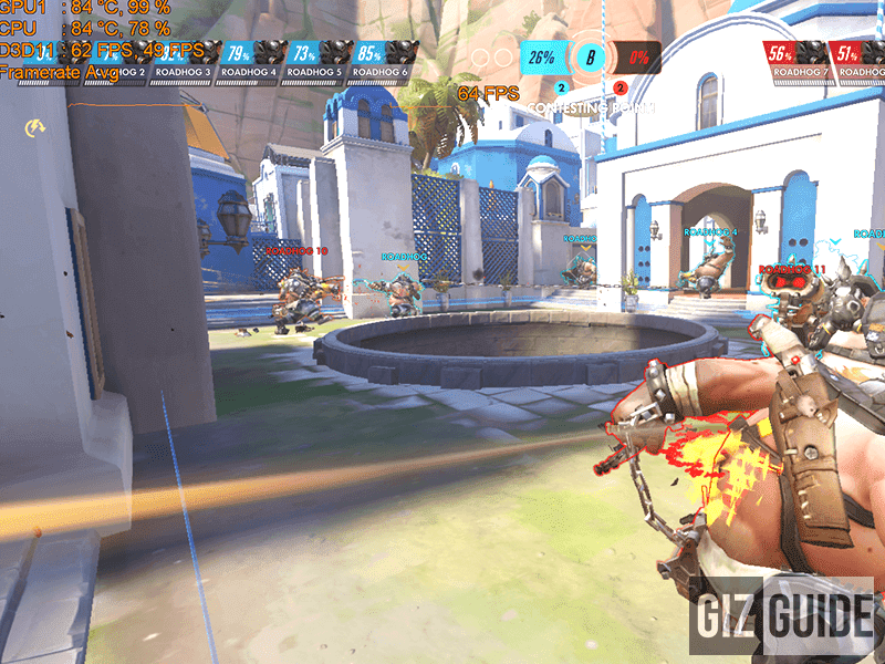 Overwatch averaged 64 fps on the low preset at 1080p