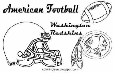 Washington Redskins printable American East football coloring page for kids fun USA sports worksheet