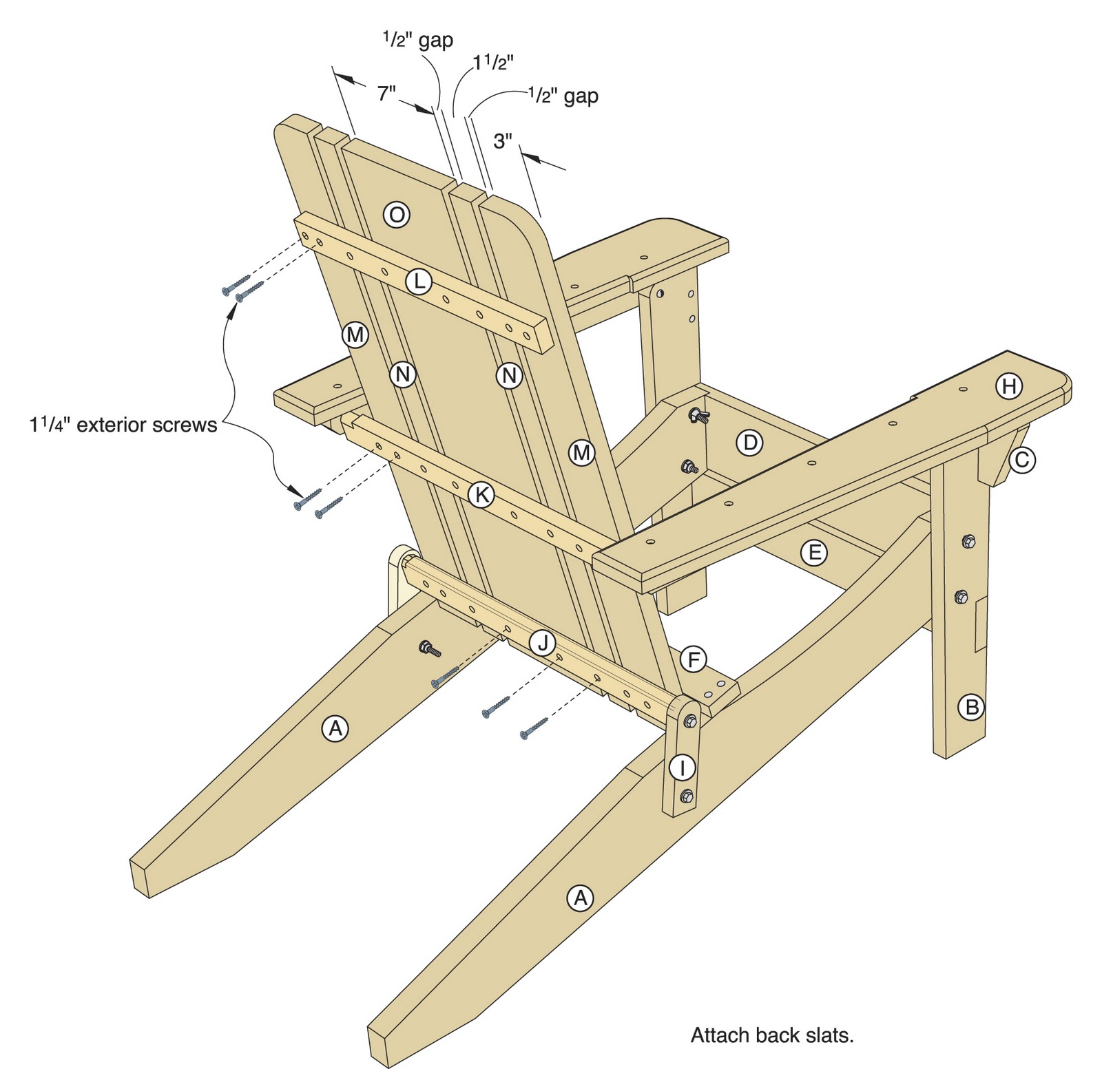 Adirondack Chair Plan High For Toddler Wood Working Plans In Metric