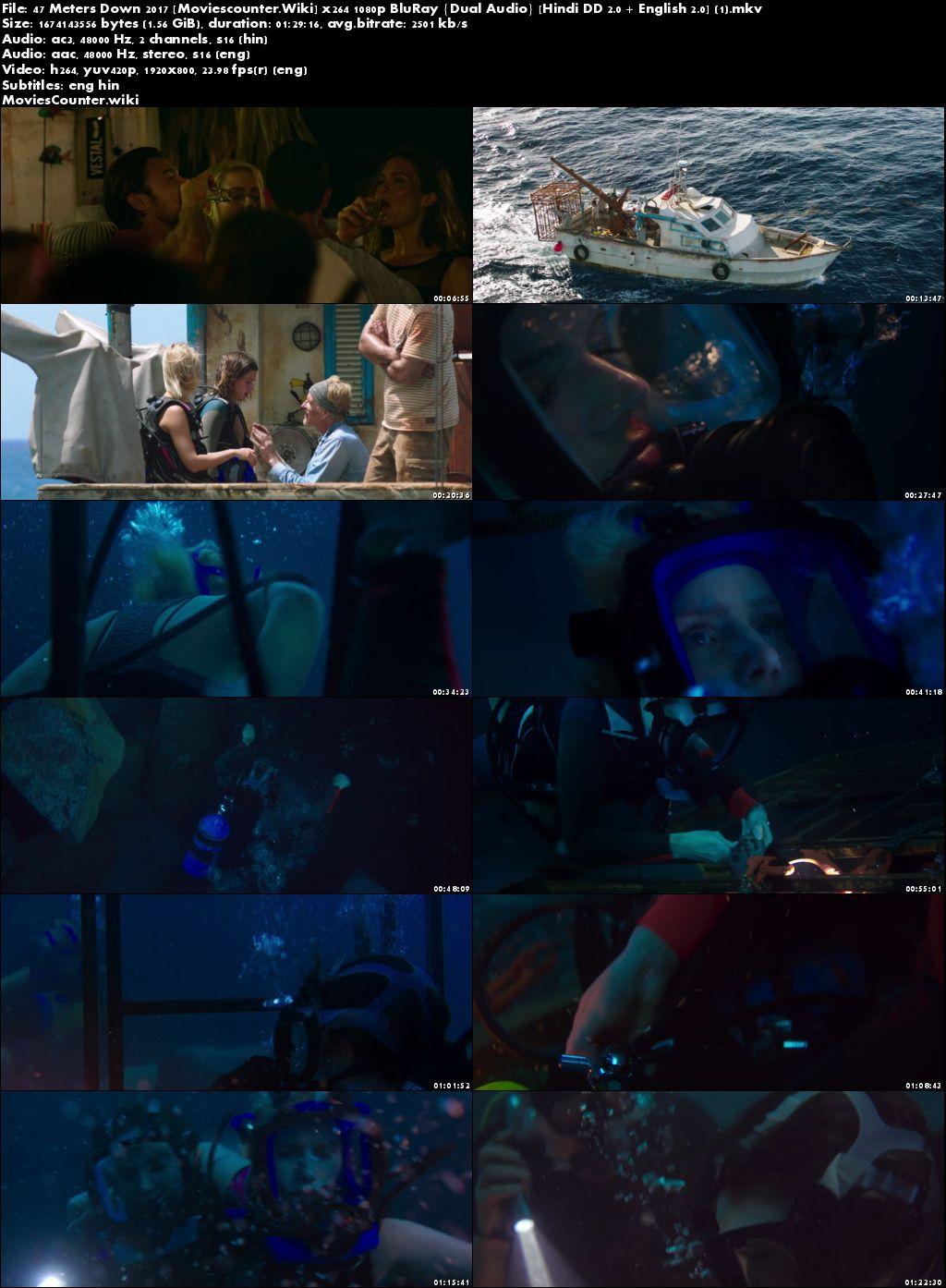 Screen Shots 47 Metres Down 2017 Dual Audio HD 720p