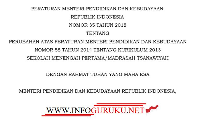 Download Permendikbud No  Tentang Struktur Kurikulum  Jenjang Smp Mts_ Berikut Ini Kami Sampaikan Informasi Terkait Permendikbud No