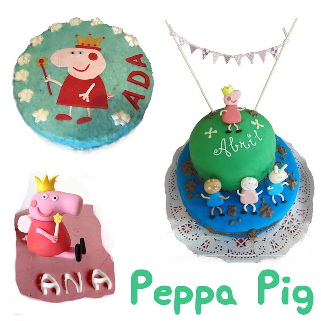 Tartas decoradas de Peppa Pig