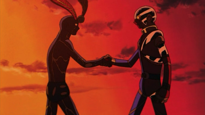 The Boy with the Guitar: Kikaider vs. Inazuman