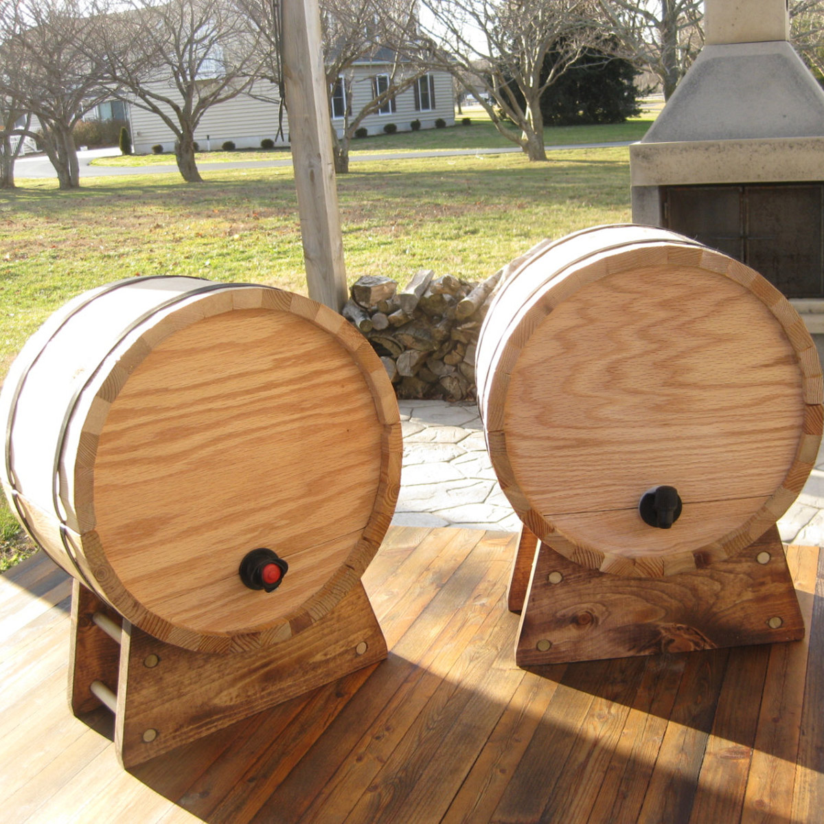Pix Grove: Cedar Wine Dispenser Barrels