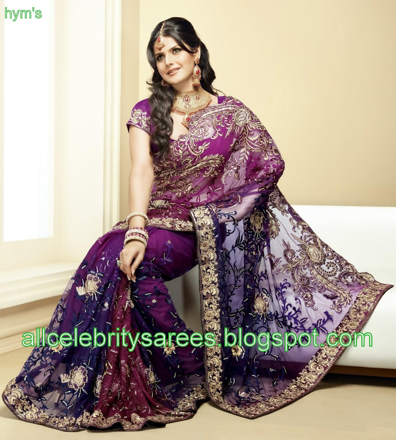 All Celebrities Sarees Designs: A Beautiful Net Saree with ...